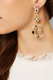 percossi papi earrings lyst percossi papi sun and moon gold plated multi earrings