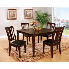 Apartment Size Dining Set by Furniture Of America Bension Espresso 5 Piece Dining Set Brown