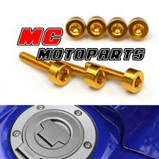 gold honda gas fuel cap bolts screws cb600f hornet 2007 2013 2009