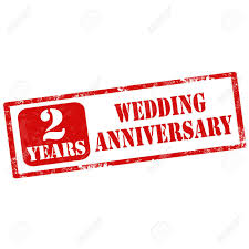 2 year wedding anniversary grunge rubber st with text 2 years wedding anniversary vector
