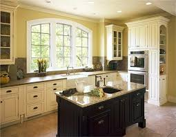 White Kitchen With Black Island Classic Country Rustic Kitchen By Melissa Morgan Sutherland