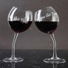 wine glass gifts set of 2 tipsy wine glasses gettingpersonal co uk
