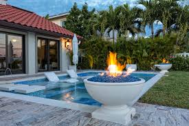 fire and water features that enhance your backyard outdoor home