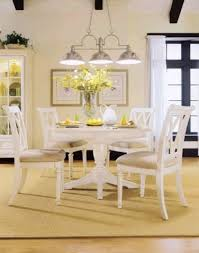Dining Room Table Set White Dining Table Set With  Double X Back - Round white dining room table set
