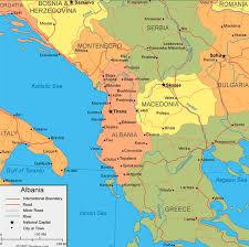 Map Of Albania Albania Vintage Era Of Indian Cinema