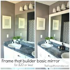 framing bathroom mirror with molding bathroom mirror edging frame that builder basic mirror for or less