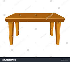 Wooden Table Background Vector Wooden Table Isolated Illustration On White Stock Vector 319943954