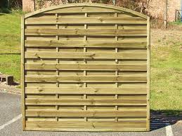 Arch Trellis Fence Panels Arched Horizontal Fencing Arched Fence Panels Abwood Ie