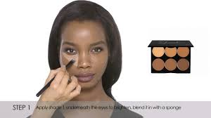 how to cream contour u0026 highlight dark sleek makeup youtube