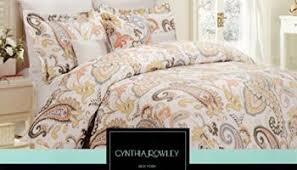 cynthia rowley full queen paisley duvet cover set aquas oranges yel