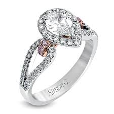 wedding rings setting images Simon g two tone diamond engagement ring setting bremer jewelry jpg