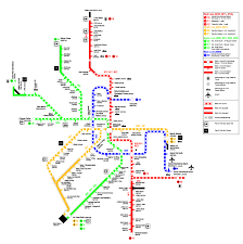 Metro Route Map by Doha Metro