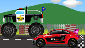 monster truck shows videos monster truck vs sports car kids video kids toy race youtube