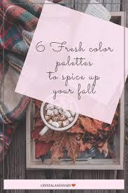 6 fresh fall color palettes crystalandstars