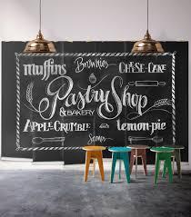 pastry shop black chalkboard wall mural milton u0026 king