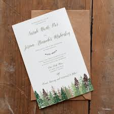 mountain wedding invitations wedding invitation tree wedding invitation mountain wedding