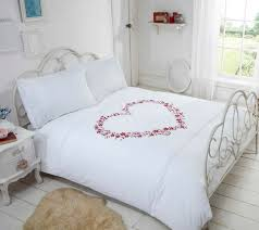 embroidered hearts white duvet cover your cosy home