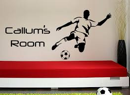 Football Striker Wall Sticker Personalised WIth Any Name - Design your own wall art stickers