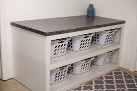 Laundry Room Table With Storage Laundry Room Office Space Reveal Laundry Rooms Laundry And