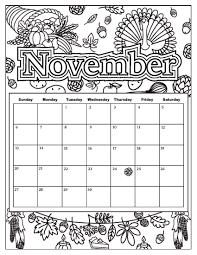 november 2017 calendar coloring u2013 printable editable blank
