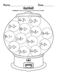 touch point numbers addition worksheets student learning and