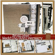 scrapbook album kits scrapscription established wedding anniversary mini album