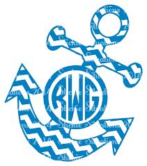 monogram decals chevron anchor monogram decal stickie situations online store