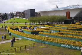 a sunflower labyrinth at van gogh museum amsterdamian