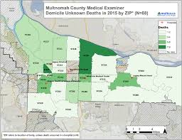 University Of Portland Map by At Least 88 Died On Streets In 2015 Multnomah County Report Says