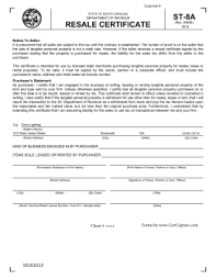 texas sales and use tax resale certificate save a copy clear side