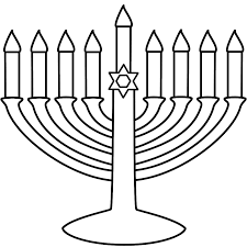 simple menorah easy to print menorah coloring page hanukkah
