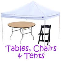 chairs and tables rentals party planning event planning