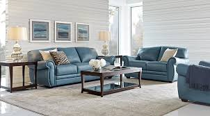 Blue Living Room Set Impressive Leather Living Room Sets Furniture Suites Of Blue Chair