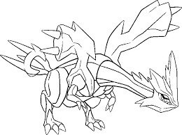 pokemon coloring pages white kyurem coloring pages pokemon kyurem drawings pokemon