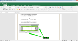 How To Put An Excel Table Into Word Excel Table In Word Document Waymaker Computer Apps For Managers
