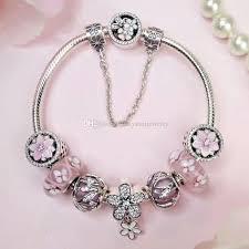 charm bracelet online images 2018 valentine sale romantic pink magnolia blossom charms jpg