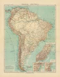 America North And South Map by Old Map Of The North And Central America In 1905 Buy Vintage Map