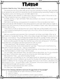 themes in literature worksheets by deb hanson teachers pay teachers