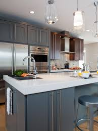 kitchen beautiful design modern cabinets doors gray brown colors