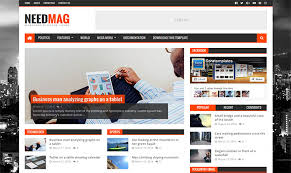 blogger templates needmag logo blogger template xml file download
