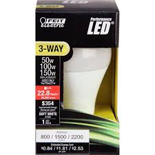 3 Way Led Light Bulb by Feit Electric 50 100 150w Equivalent Soft White A21 3 Way Led