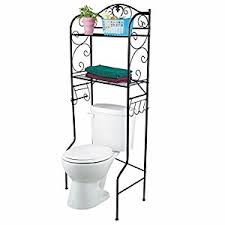 amazon com vdomus bathroom space saver over the toilet wire shelf
