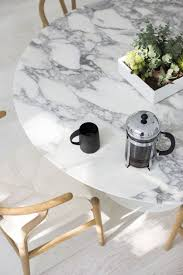 round marble dining table and chairs cover the old oak table with a marble look tablecloth to hide the