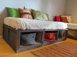 daybed with storage baskets storage designs