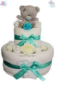 tiny tatty teddy nappy cake two tier coochy coo nappy cakes