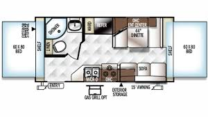 Rockwood Trailers Floor Plans Forest River Rockwood Roo 19 Hybrid Trailer