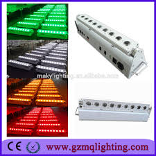 led battery operated strip lights battery powered led strip light with wireless 9pcs 18w rgbwa uv