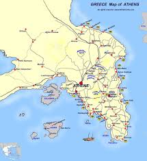 Greece Islands Map by Map Of Athens Athina Map Ferries From Athens Athens Pireas Greek
