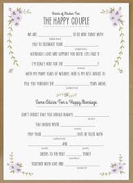 wedding mad lib template wedding mad libs