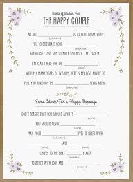 bridal mad libs wedding mad libs